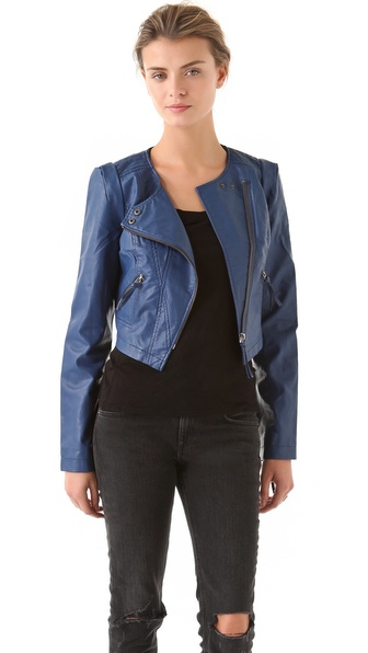 Free People Collarless Moto Jacket