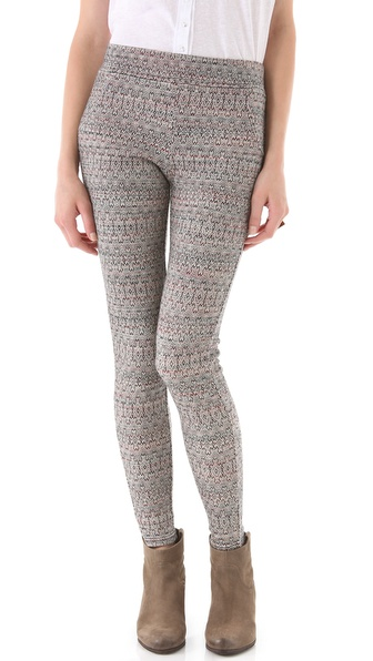 Free People Patterned Double Knit Leggings