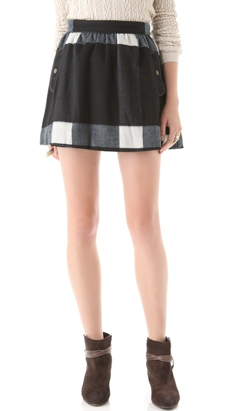 Free People Party Plaid Skirt