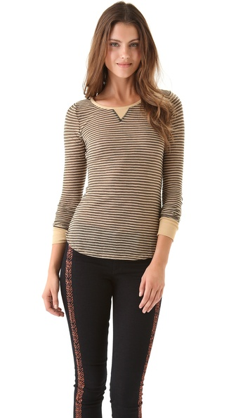 Free People Burnout Long Sleeve Layering Top