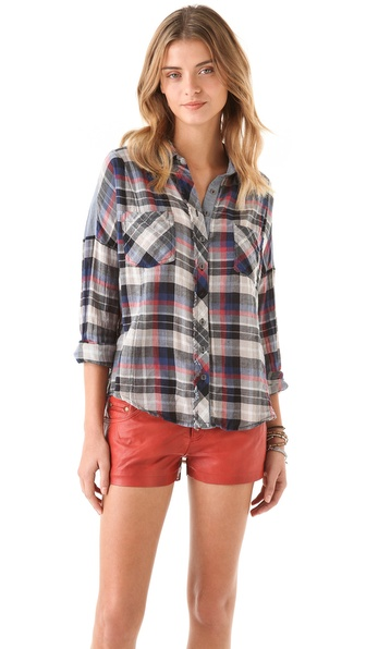 Free People Fly Away Button Down Top