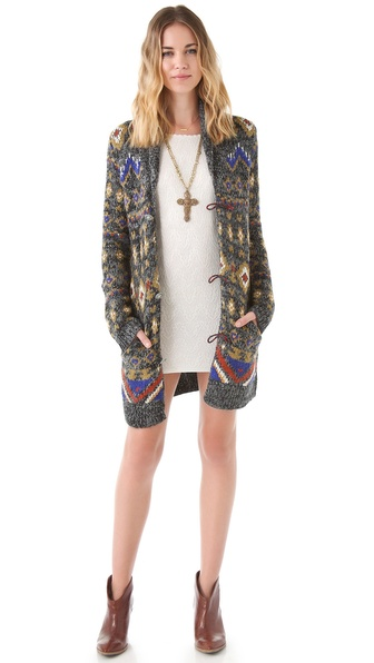 Free People City is a Jungle Sweater Jacket