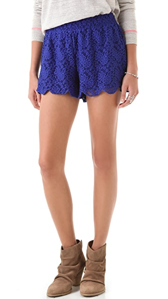 Free People Scalloped Lace Short