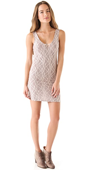 Free People Floral Shine Slip Dress