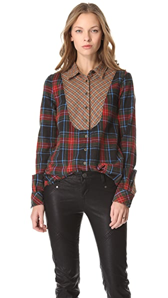 Free People Mash Up Button Top