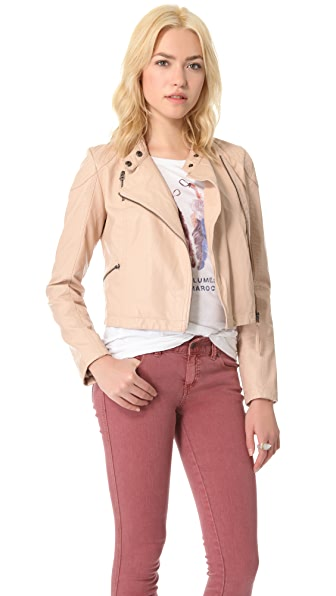 Free People Sunburst Moto Jacket