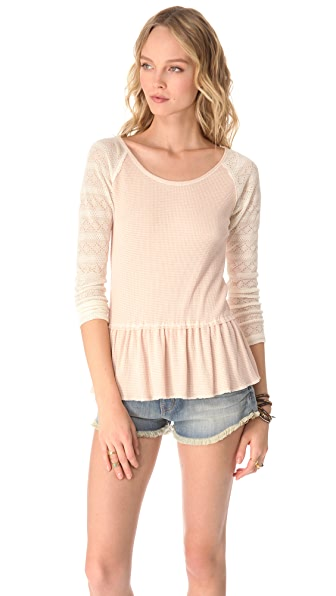Free People Ziggy Thermal Top