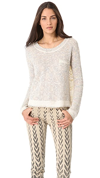 Free People Sweet Jane Lace Back Pullover