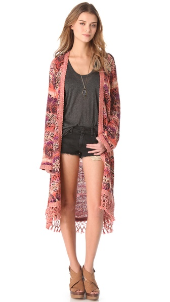 Free People Coachella Maxi Cardigan