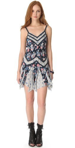 Shop Free People Mixed Printed Pieced Slip and Free People online - Apparel,Womens,Dresses,Day, online Store