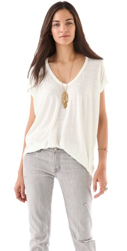 Shop Free People Keep Me V Tee and Free People online - Apparel,Womens,Tops,Tee, online Store