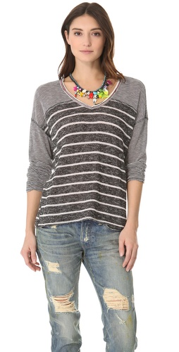 Shop Free People Hang Ten Long Sleeve Top and Free People online - Apparel,Womens,Tops,Tee, online Store