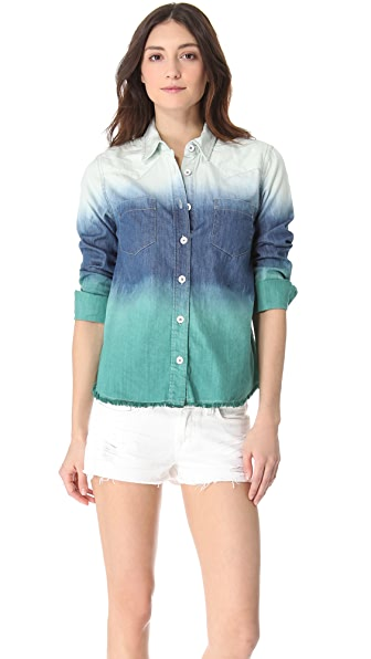 Free People Before Sunrise Button Down Shirt
