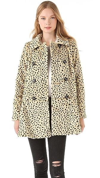 Free People Faux Fur Cheetah Coat