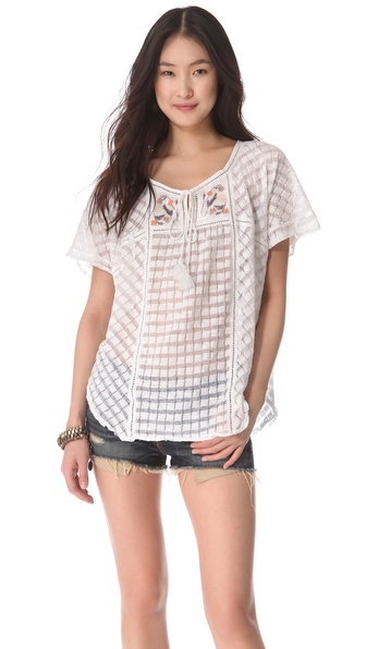 Free People Willows Boxy Blouse