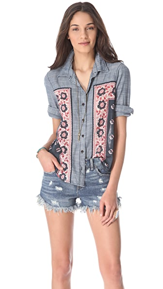 Free People Born Free Button Down