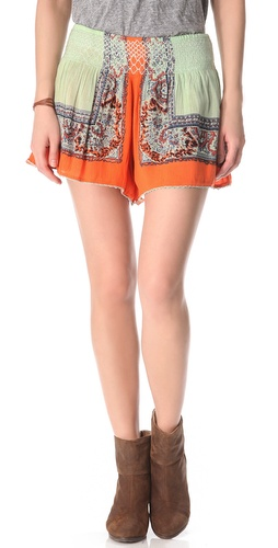 Free People Scarf Printed Shorts at Shopbop.com