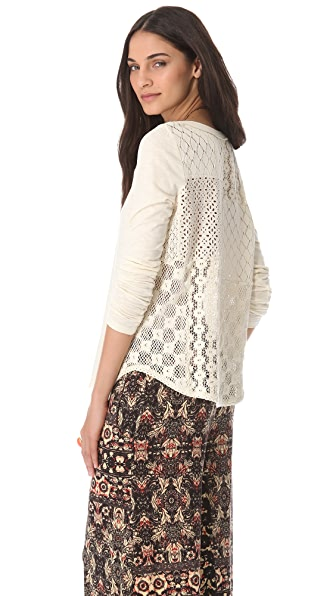 Free People Patches of Lace Top
