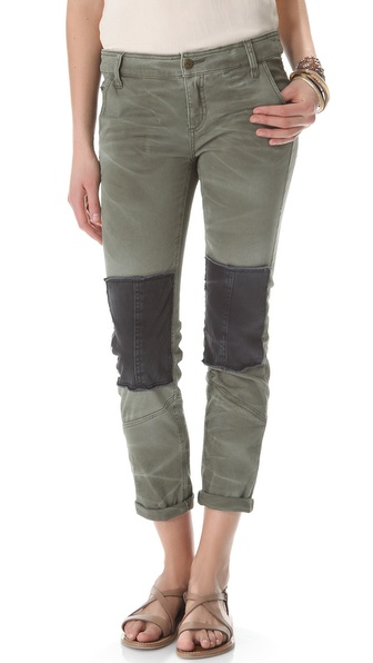 Free People Patched Twill Pants