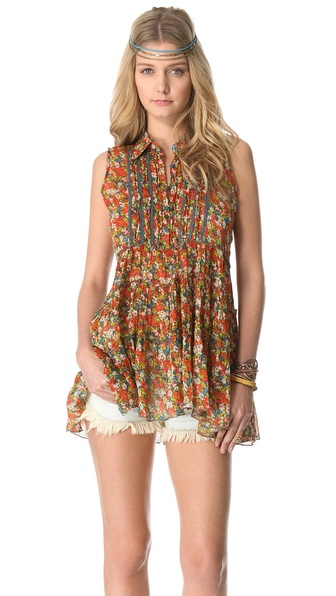 Free People After Dark Garden Top