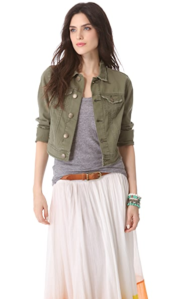 Free People Washed Out Denim Jacket
