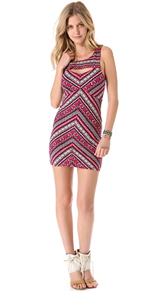 Free People Cutout Body Con Slip Dress
