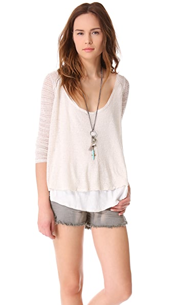 Free People Twisted Tea Top