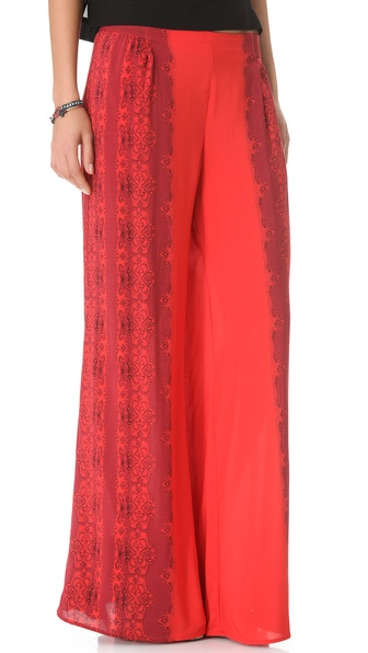 Free People Printed Wide Leg Pants