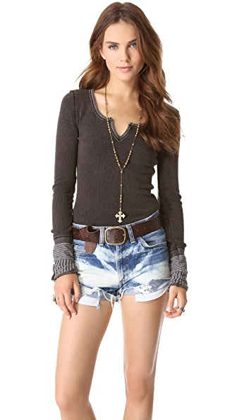 Free People Kyoto Cuff Thermal Top