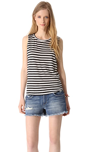 Free People All About Stripes Muscle Tank