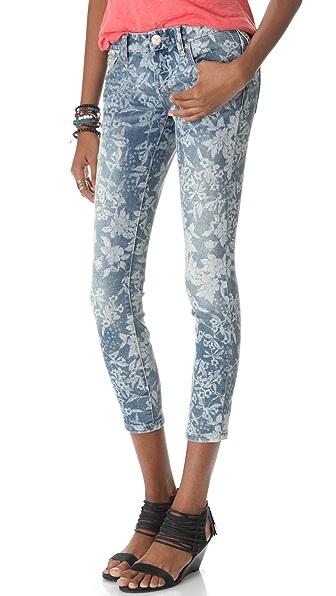 Free People Hawaiian Floral Skinny Jeans