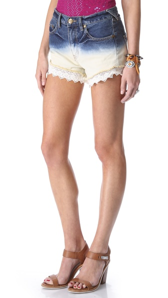 Free People Dip Dye Lacey Shorts