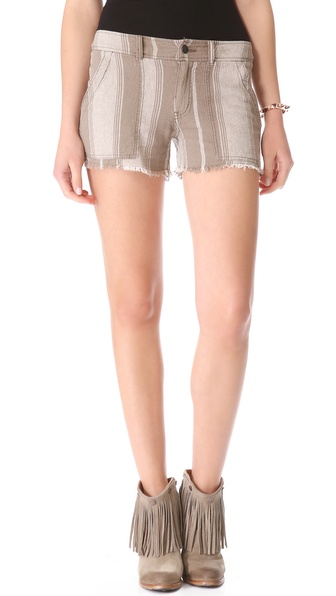 Free People Linen Stripe Shorts