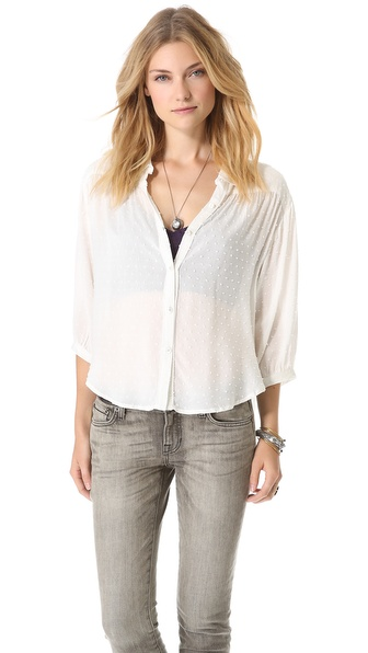 Free People Sparrow Bell Sleeve Top