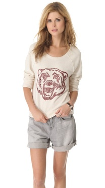 Free People Big Bad Varsity Sweatshirt