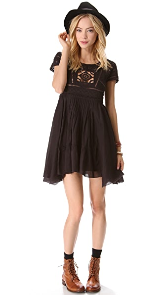 Free People Black Widow Dress