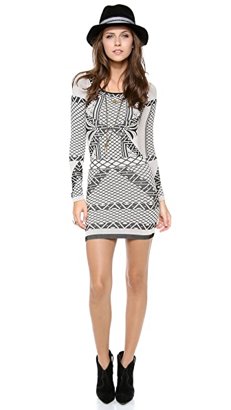 Free People Bella Coachella Intarsia Dress