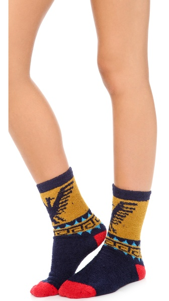 Free People Lou's Pattern Cozy Socks