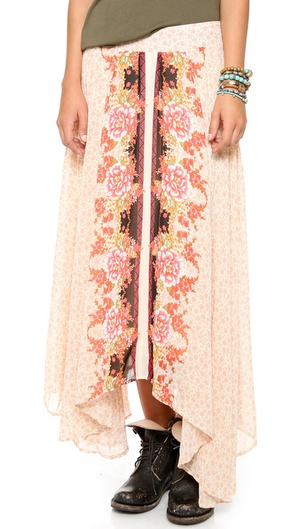 Free People Lovely Lady Maxi Skirt