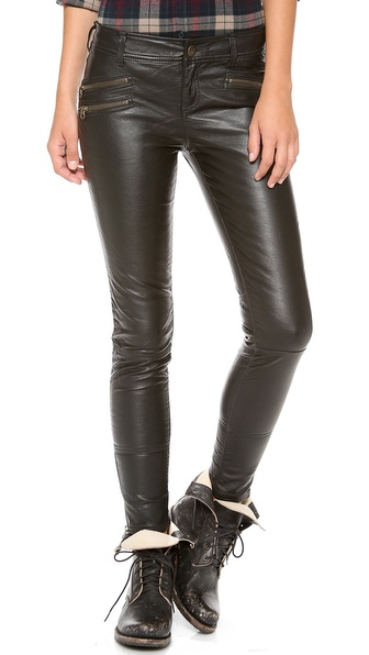 Free People Vegan Leather Skinny Pants