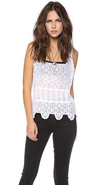 Free People Textured Flower Lace Camisole