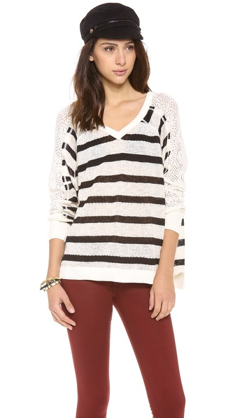 Free People Fluffy Long Sleeve Top