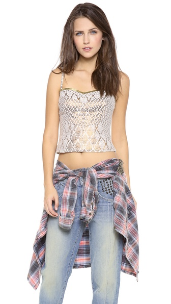 Free People Shellbourne Corset Top