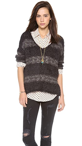 Free People Linus Stripe Pullover