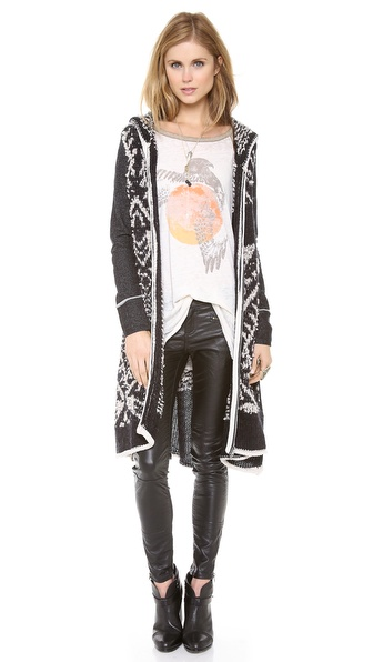 Free People White Mood Cardigan