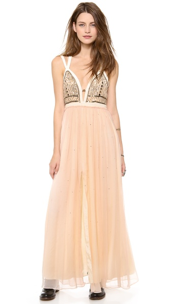 Free People Golden Chalice Maxi Dress