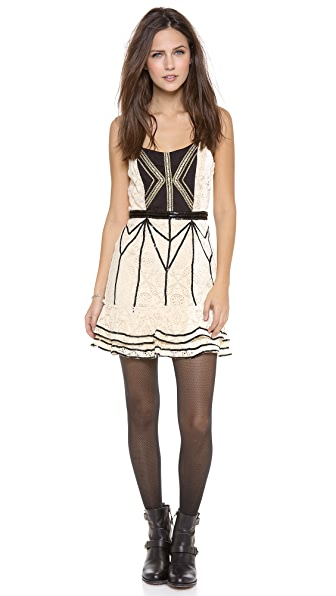 Free People Lace Coquette Mini Dress