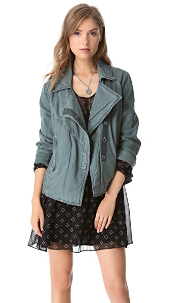 Free People Rumpled Linen Jacket