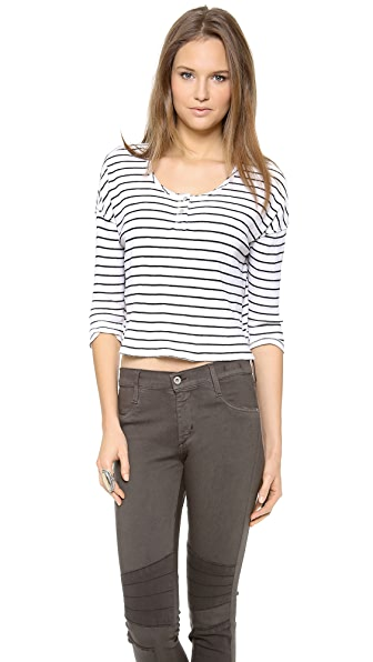 Free People Garvey Henley Top