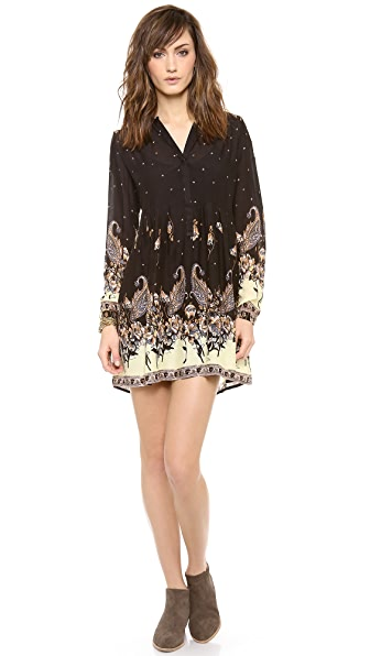 Free People Sierra Valley Printed Shirtdress